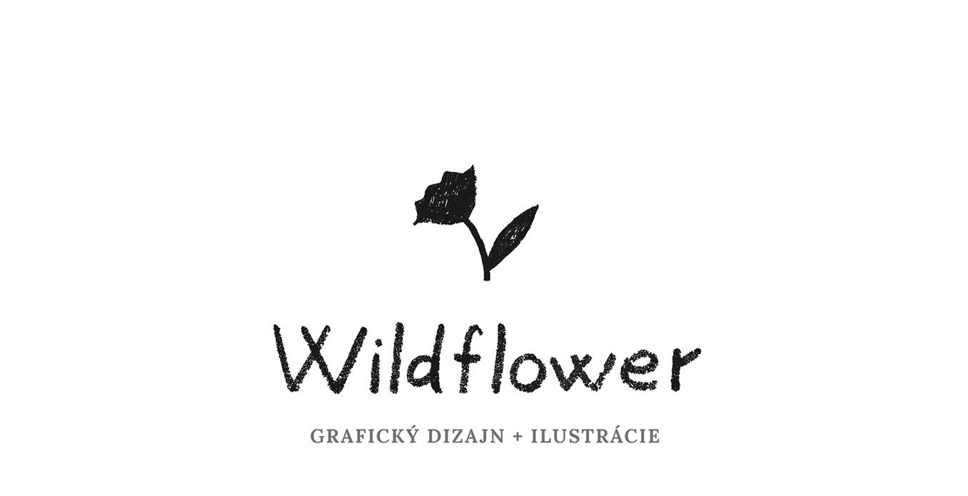 Wildflower grafický dizajn + ilustrácie